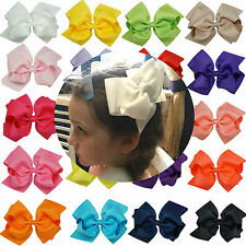 20 x 6 inch mixed  Large Double Layers Hairbow Baby Girls Hair Bows Clips