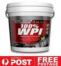 Total Science 100% WPI 3kg Chocolate | Protein Whey BCAA Muscle Recovery Stevia