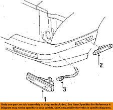 Chevrolet GM OEM Corsica Side Marker Light-Front-Park/turn Lamp Right 5974380