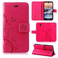 Nokia 3.2 Handy Tasche Handyhülle Wallet Case Schutz Hülle Blumen Flip Cover Neu