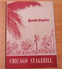 South Pacific Play Brochure Chicago Stagebill July 1951 - Richard Eastham