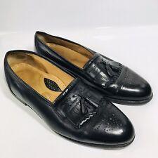 Stanley Blacker Mens Sz 13 M Black Tassel Loafers Dress Shoes