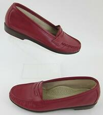 5287f751065 SAS  Wink  Moccasin Penny Loafers Red Leather ...