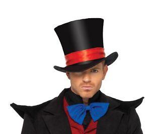 Velvet Black Top Hat Men's Deluxe Magician Showman Circus Ringleader Leg Avenue