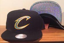 Cleveland Cavaliers CAVS Mitchell & Ness Gorro Gorra Snapback irredecent Holograma
