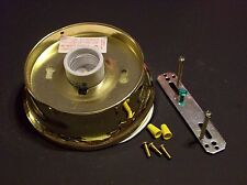 """4"""" FITTER WIRED FLUSH MOUNT FIXTURE HOLDER POLISHED BRASS FINISH NEW 11876JB"""