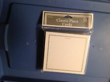 50 Amscan Classic Place Cards White with Silver Border ~ Use for Any Occasion