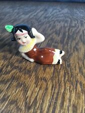 Vtg Mini Native American Girl Figurine Penny Doll