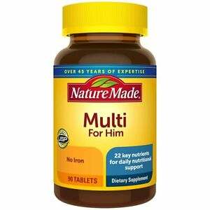 Nature Made, Multi for Him, No Iron, 90 Tablets From Japan