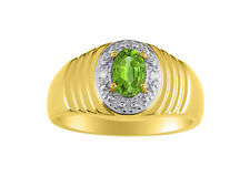 Diamond & Peridot Ring 14K Yellow or 14K White Gold MR3057PEY-C