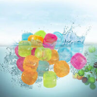 20Pcs 3D TPU Refreezer Ice Cubes Fruit Star Multicolor Cooling Drink Tool Party