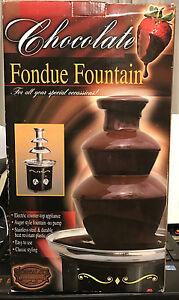 Nostalgia Electrics™ Chocolate FONDUE FOUNTAIN ~ CFF600 Stainless Steel  ~ NEW
