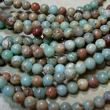"Aqua Terra African Opal 10mm Round Beads 16"" Natural Jasper"