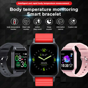 Smart Watch Temperature Heart Rate Blood Oxygen Pressure Monitor Sleep Tracking