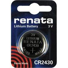 Cr2430 Pièces-batteriepack RENATA 1,55 V 225 mAh montres clés de voiture lampes de poche