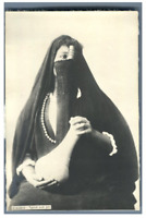 Egypt, Cairo (القاهرة), Typical arab girl  vintage silver print Tirage argenti