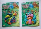 NOS Vintage MTC Jungle King Jungle Animal Puzzles Alligator & Gorilla Plastic