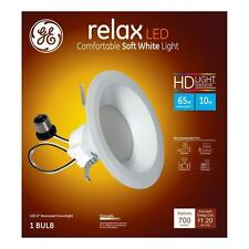 4 pk GE LED 6 in downlight 10 watt = 65 W  Soft White (2700K) High Definition S6