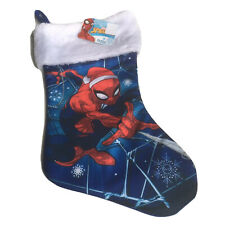 Marvel Spiderman Silky Christmas Stocking NWT Blue Red White