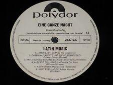EINE GANZE NACHT - LATIN MUSIC Delgado... / German PROMO LP 1969 POLYDOR 2437037