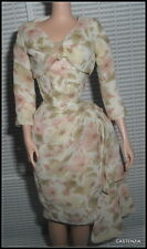 DRESS & JACKET BARBIE SILKSTONE DOLL A DAY AT THE RACES FLIRTY FLORAL CHIFFON