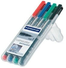 4 Staedtler Lumocolor soluble Repères Farbsortiert