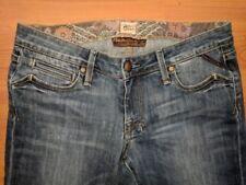 Brown Label Womens Jeans Prancer Low Bootcut Medium Wash Distressed - Sz 28 $210