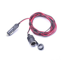 Auto Car Cigarette Lighter Charger 15FT Socket Extension Cable Cord with Fuse