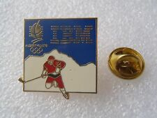 PIN'S IBM ALBERTVILLE 92 HOCKEY