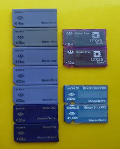 SanDisk | Sony | Lexar Memory Stick Select MS PRO 4MB 16MB 64MB 128MB 256MB 1GB