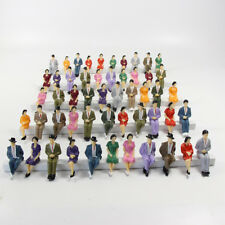 50pcs trains modèles 1:30 personnages peints assis à l'échelle G