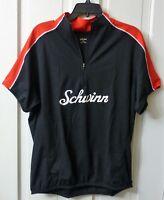 2XL XXL Men's Schwinn Red & Black Cycling Jersey Zipper Pouches Bike Bicycle NEW