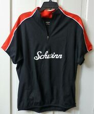 LARGE Men's Schwinn Red & Black Cycling Jersey Zipper Pouches Bike Bicycle NEW