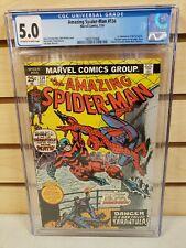 The Amazing Spider-Man #134 1974 MARVEL 1st Appearance Tarantula CGC 5.0