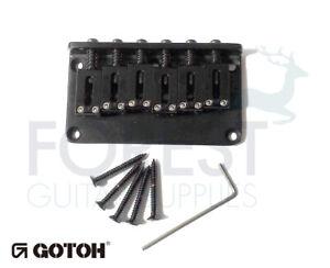 Gotoh Guitar Hardtail Fixed Bridge GTC101, Brass Saddle Black For Tele Or STRAT