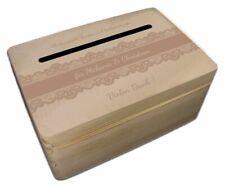 kleine Holz-Geschenkbox zur Hochzeit Briefbox Geldgeschenke incl. Lasergravur