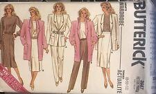 Butterick pattern 3987 Misses' Jacket, Skirt, Pants, Top size 8, 10, 12 uncut