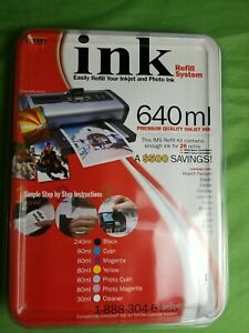 New Ink Refill System 640ml Compatible With Canon Epson Brother Apple Inkjet IMS