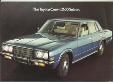 TOYOTA CROWN 2600 SALOON SALES 'BROCHURE 1975 - 1976