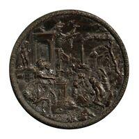 Hans Jakob Bayr, Athena, Bassorilievo in bronzo Antico, Primi XVII Sec.