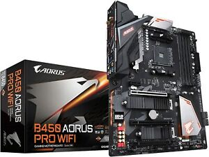 GIGABYTE B450 AORUS PRO Wi-Fi AMD Ryzen AM4/ATX/M.2 Gaming Motherboard for PC