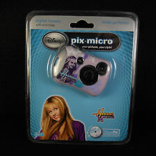 NIB Disney Hannah Montana Pix Micro Digital Camera CD-ROM USB Cable Miley Cyrus