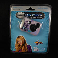 NIB Disney Hannah Montana Pix Micro Digital Camera CD-ROM USB Cable Miley Cyrus