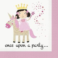 Pack of 16 Unicorn Princess Once Upon A Party Napkins / Serviettes  New & Sealed