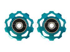 New MTB Road Bike Derailleur Jockey Wheel Slot Pulley 10T 6mm Aqua Blue