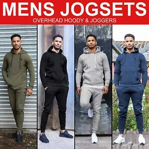 Mens Tracksuits Jog Set Pullover Hoodie Jogger Jogging Bottoms Hooded Sweatshirt