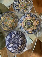 Pottery Barn DEL SOL Melamine Salad Plates Assorted Set of 4 New And Boxed