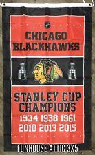 Chicago Blackhawks NHL Stanley Cup Championship Hockey FLAG 3x5ft Banner ManCave