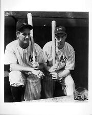 LOU GEGRIG & JOE DIMAGGIO N.Y. YANKEES GLOSSY Black & White 8X10 BASEBALL PHOTO