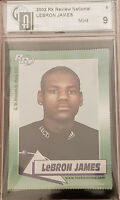 2003-04 LEBRON JAMES ROOKIE REVIEW CARD RC GRADED GAI 9 MINT - not PSA or BGS